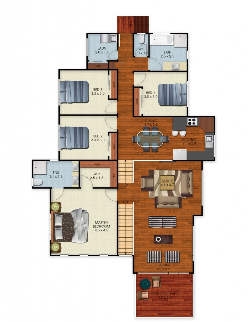 The Eucalyptus - FL Floor Plan